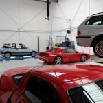 Auto's in de garage